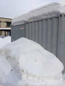 札幌の屋外の収納用コンテナ コンテナトランクルーム