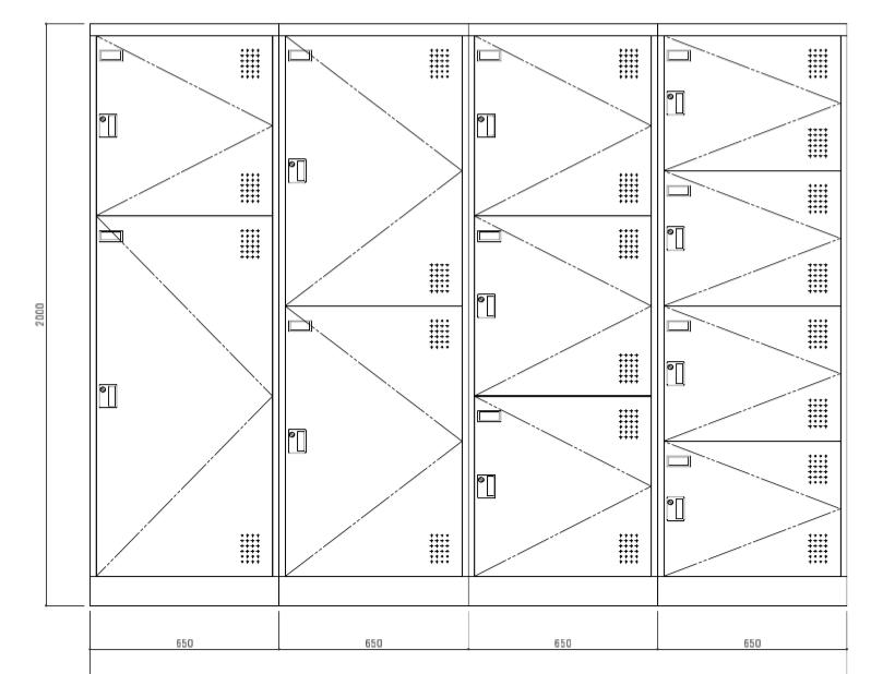 円山 収納Box 正面図